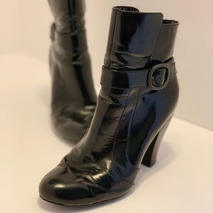 Born Crown — Black Patent Leather Booties (7)
